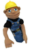 melissa doug construction worker puppet real