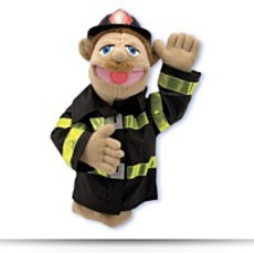 Mellisa N Doug 2552 Firefighter Puppet