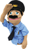 melissa doug police officer puppet guys